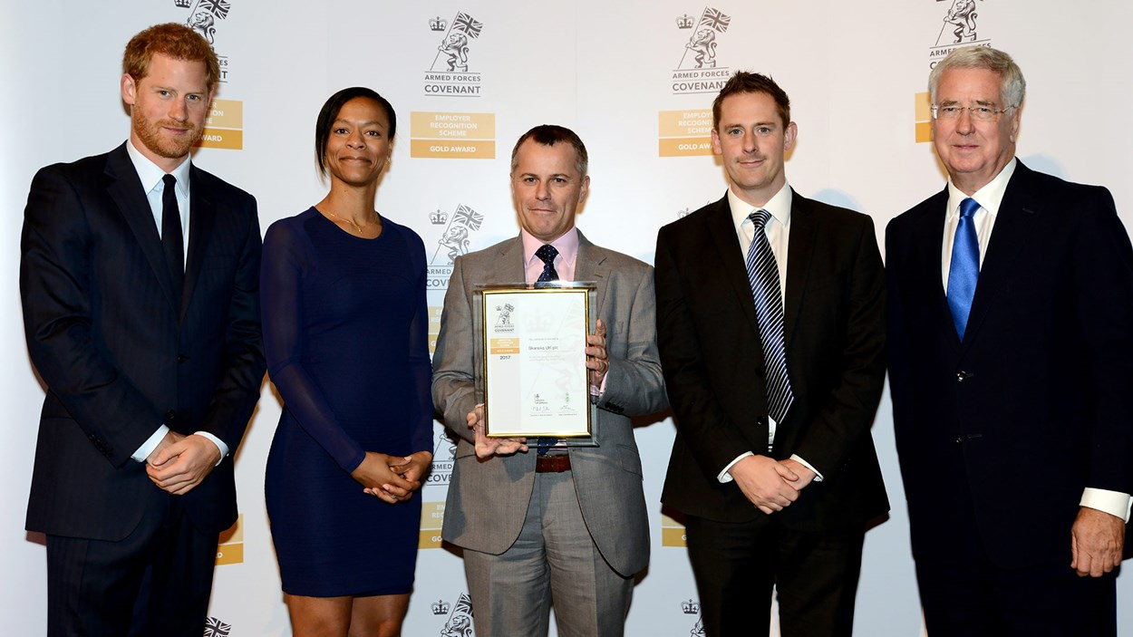 Employee recognition scheme gold award