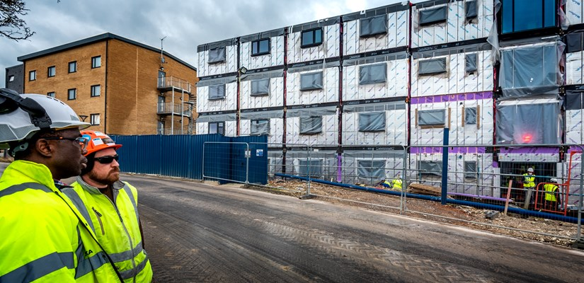 Modular accommodation will deliver almost 500 bed spaces at Worthy Down in trance 2 works.