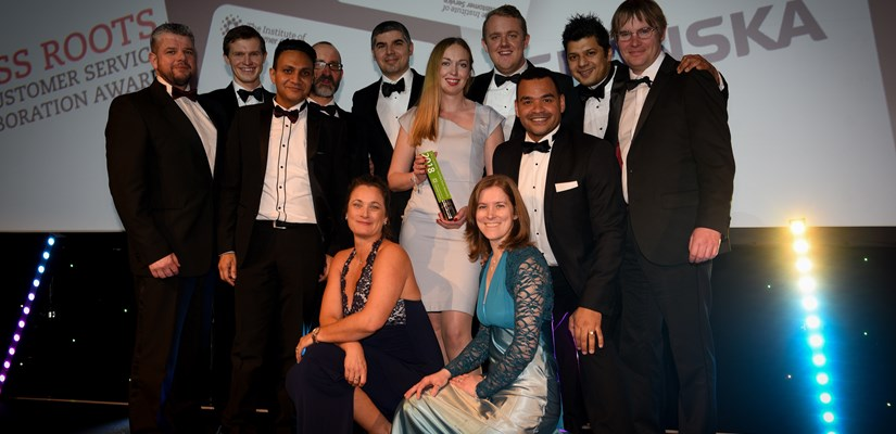 Collecting the Grass Roots Best Customer Service Collaboration Award