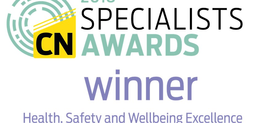 Skanska wins the Construction News Specialist Award for Health, Safety and Wellbeing Excellence.