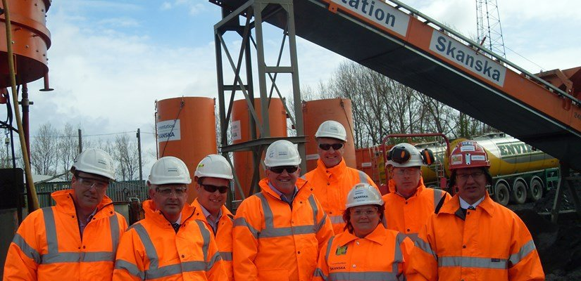 Members of Cementation Skanska Management Team visited our site at Borders Railway site