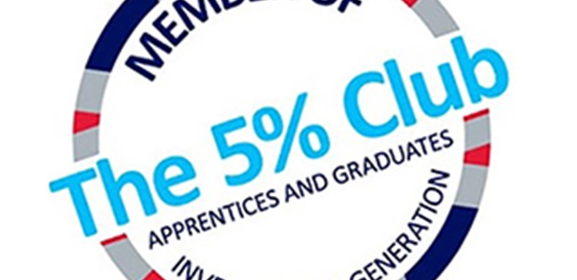 Skanska welcomes record number of graduates as it joins The 5% Club