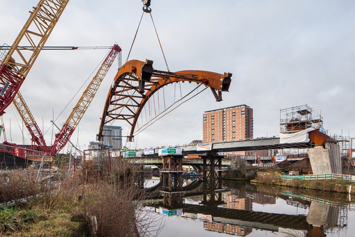 Centre piece of Great North Rail Project takes its place