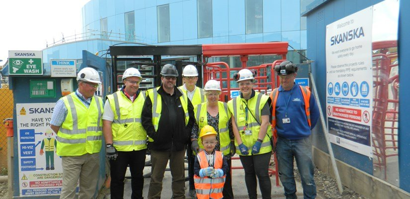 Jay Davison with the New Papworth Hospital project team