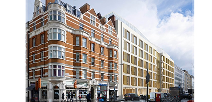 Derwent London has awarded Skanska a £45 million fixed price contract to design and build a commercial development in the West End of London.