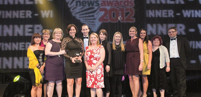 Left: Skanska's HR team, with senior managers Lucy Jones and Mary Goodey, collected the Employer of the Year Award