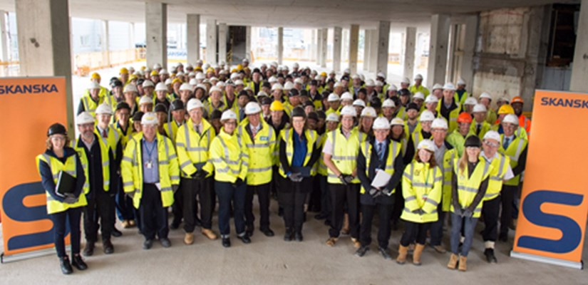 Great Ormond Street Hospital celebrates topping out of the Premier Inn Clinical Building, bringing the Mittal Children's Medical Centre one step closer to completion