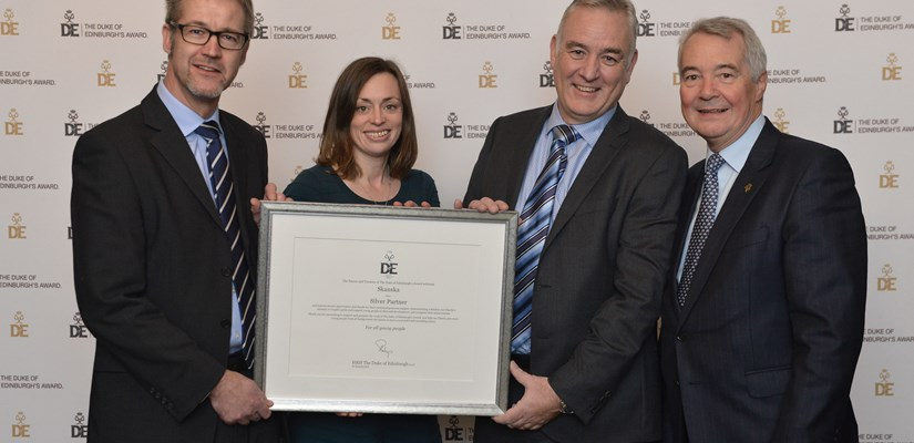 Harvey Francis, Graeme Culliton and Sally Scott receive The Duke of Edinburgh's Award