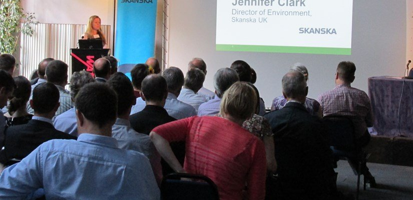 Jennifer Clark at the Skanska/Low Carbon South West Building Sustainable Cities panel debate