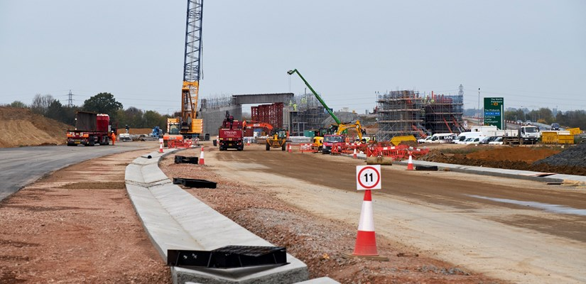 Ground progress on the A14 Huntingdon to Cambridge road improvement scheme