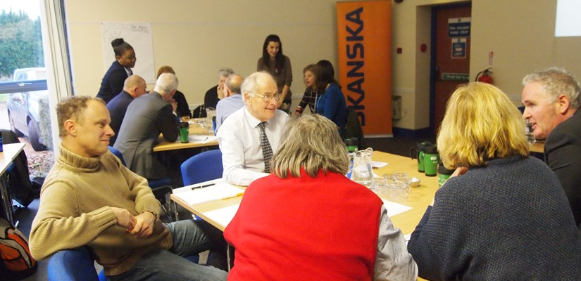 Kent and Medway Partnership Trust community coming together to discuss sustainability.