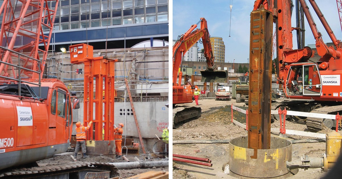 Plunged columns for top down construction | www skanska co uk