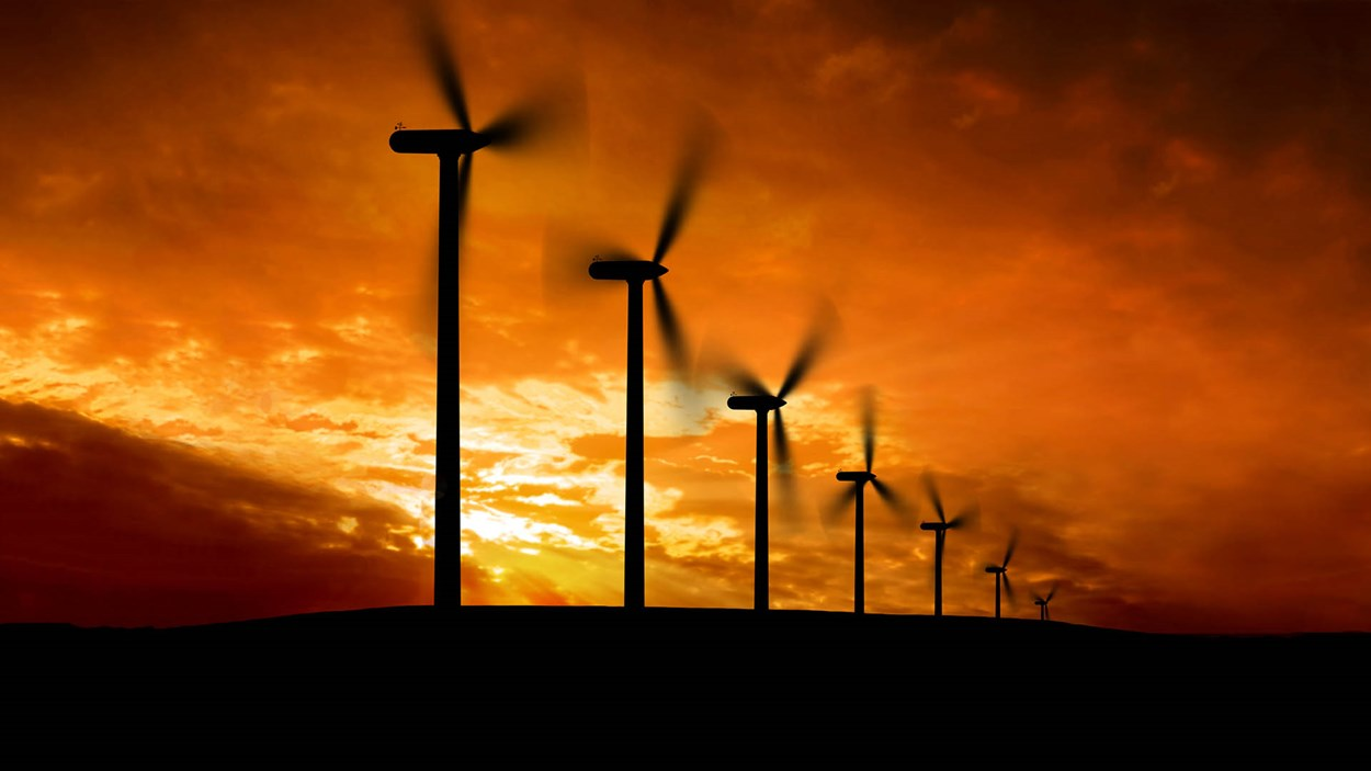 wind-turbines-at- sunset