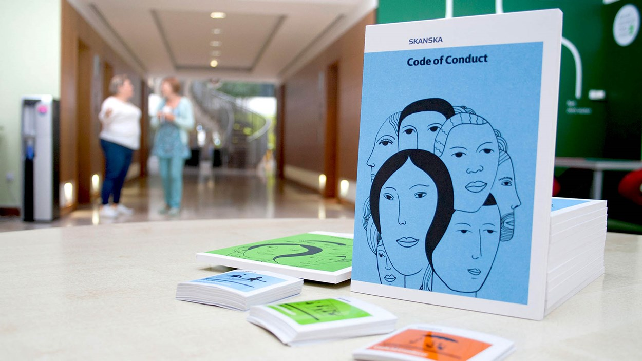Code-of-conduct-brochure-in-Maple-Cross-head-office