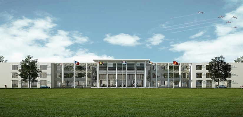 An artist's impression of the new training college at Worthy Down in Hampshire