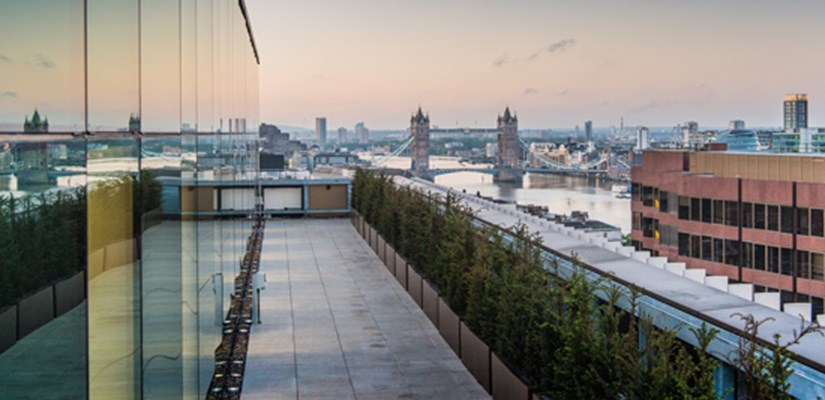 Office workers can enjoy stunning views from the ninth floor