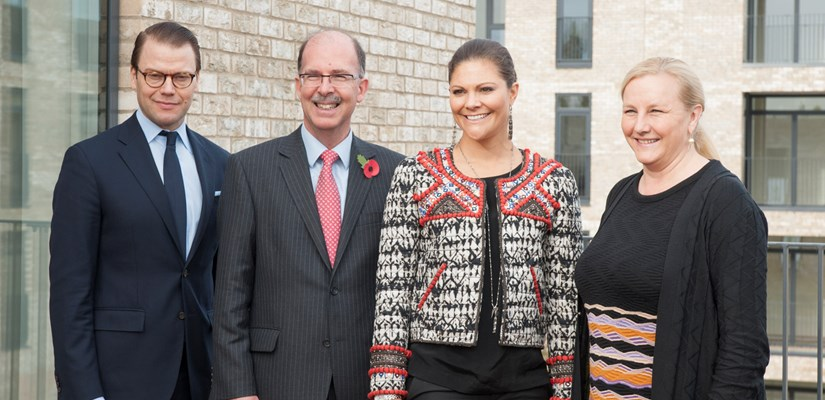Crown Princess Victoria and Prince Daniel of Sweden tour Homes by Skanska