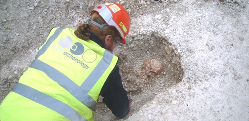 Late Roman burials have been discovered during groundwork to construct, a £250 million training facility for the armed forces at Worthy Down.