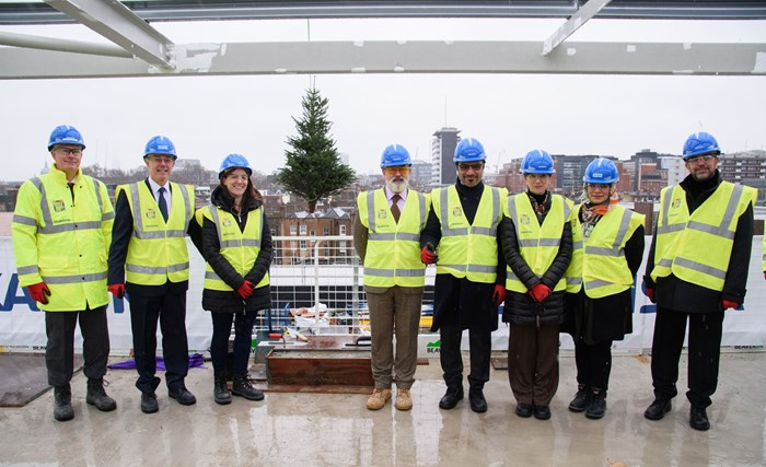 Great Ormond Street Hospital and Skanska celebrate topping out milestone