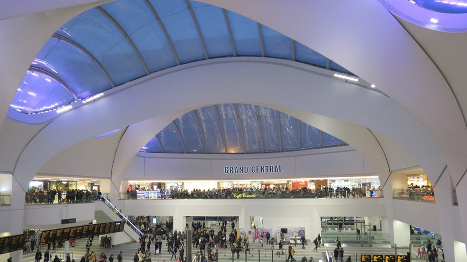 Clark and Fenn, part of SRW engineering services, created and installed the new ceilings in Birmingham New Street Station