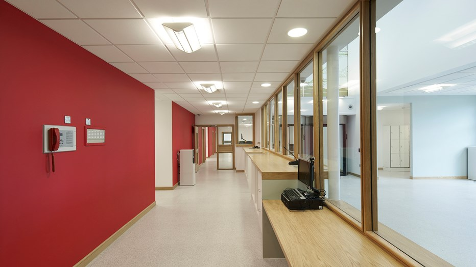 Modern, airy facilities at The State Hospital, Lanarkshire